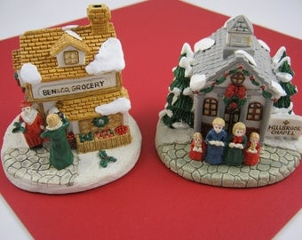 VINTAGE CHRISTMAS - (2) Crystal Falls Village houses