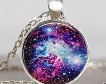 Purple nebula space pendant  , Nebula necklace, Nebula jewelry, galaxy space necklace purple blue jewelry, handmade jewelry