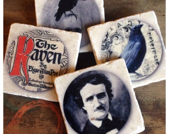 Nevermore - Poe Raven coaster set