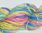 Handspun Yarn - Super Bulky USA Rambouillet Wool - 122 yards of Punchy Pastels