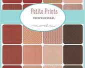 PETITE PRINTS - Moda Fabric Charm Pack - Five Inch Quilt Squares Quilting Material Blocks - French General