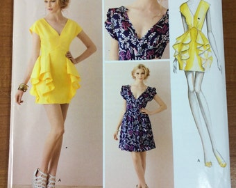 Simplicity 1877 ruffle dresses by Leanne Marshall Sewing Pattern Sizes 4-6-8-10-12 Great for Summer