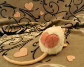 I -heart- Rats Plushie - White with Pink Heart