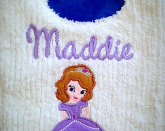 Sofia The First Princess Toddler Size Bib