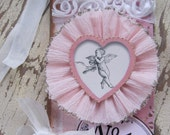 Valentine Tag, Valentines Day, Valentine, Primitive Valentine, Pink, Cupid, Angel, For Her, Heart, Shabby Chic, Love, Gift Tag, ofg team