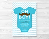 Cute Mustache Baby Shower...