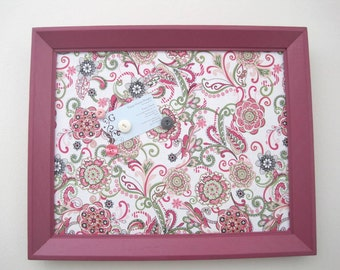 Fuchsia Wood Framed Magnetic Board Memo Board