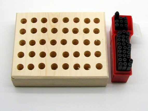 """1/16"""" (1.5mm) Letter & Number Stamping 36 Piece Set And Stamp Storage Block"""
