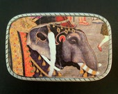 Elephant Belt Buckle Interchangeable.  Recycled Rubber Belts available too.  Mens belt buckle.  Womens belt buckle. India wearable art.