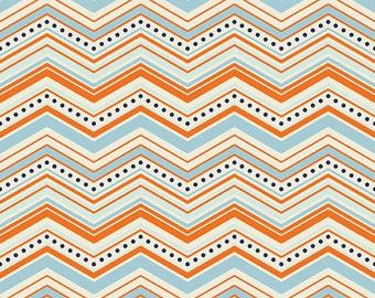 Riley Blake One For the Boys Orange Flannel Fabric, 1 yard