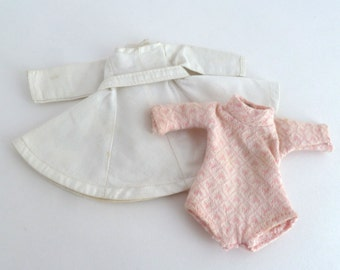 Ginny Doll Clothing and Headband - White Dress, Pink Romper and Yellow Band
