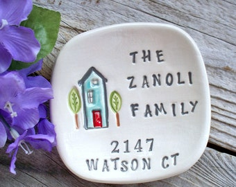 Housewarming Gift Dish Personalized for the New Homeowner, New House Personalized Gift Dish, Realtor Gift, Ring Dish, Home Decor