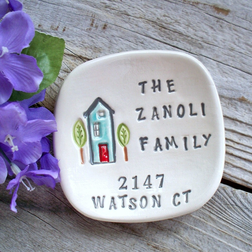 Housewarming Gift Dish Personalized For The New By