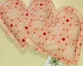 Pink Dot Snowflake Heart Warmers