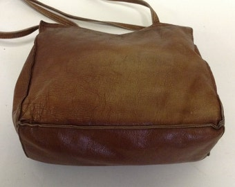 Distressed Vintage Leather Tote