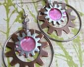 Steampunk Gears - pink