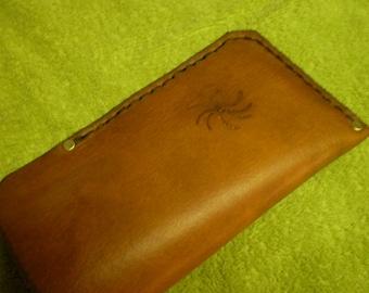 Range Tan Leather Eye Glass Case