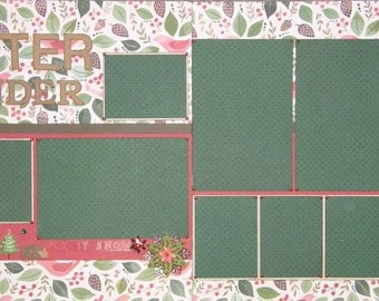 CLEARANCE 12x12 Double Page Christmas Layout (B)