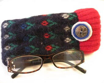 Recycled Wool Eye Glass Case