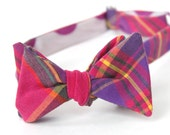 magenta & purple freestyle bow tie for the little guy