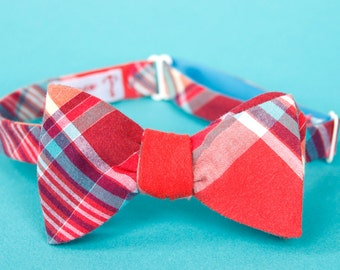 totally happy plaid freestyle bow tie
