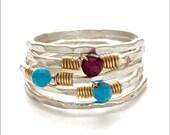 Stackable Gemstone Rings