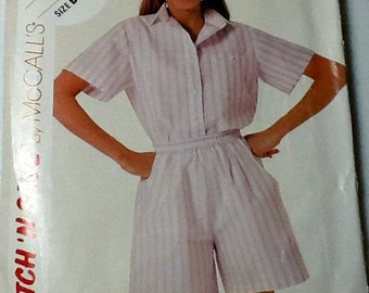 Simplicity Top and Shorts Pattern Sizes 12-16