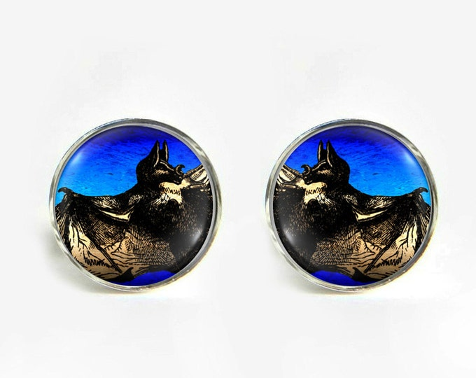 Vampire Bat small post stud earrings Stainless steel hypoallergenic 12mm Gifts for her
