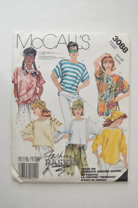 1980s UNCUT Vintage McCall39s Sewing Pattern 3088