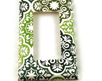 Rocker Switchplates Light Switch Cover Wall Decor  Single Switch Plate in Verde (213R)