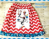 Dr Seuss skirt Cat in the HAT girls 2T 3T 4t 5 6 7 8 10 12 ready to ship