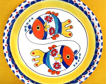 Plate with 2 Fish