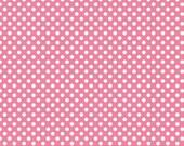 Cotton Fabric, Hot Pink Small Polka Dot, Riley Blake Designs, 1/2 Yard, more available