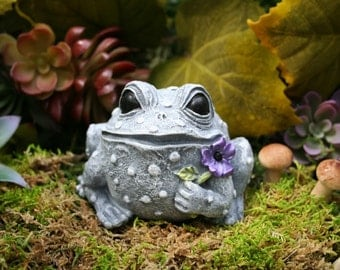 Garden Frog Ornament Concrete Outdoor Garden Decorations