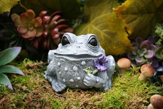 Garden Frog Ornament Concrete Outdoor Garden Decorations