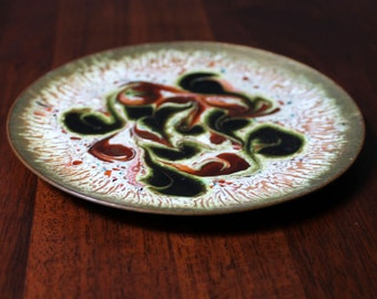 Midcentury abstract enamel dish.