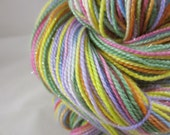 Dye-To-Order Pastel Rainbow Self Striping Hand Painted SW Sock Yarn