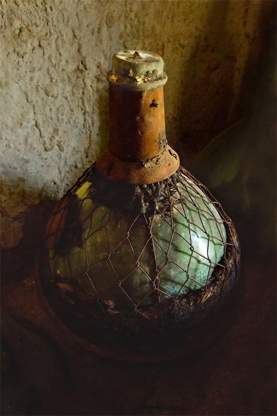 Green Bottle I  Archival Print