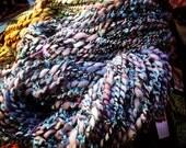 Blueberry Cotton Candy - 7.2 oz 120 yards - handspun art yarn merino alpaca, mohair, eyelash yarn