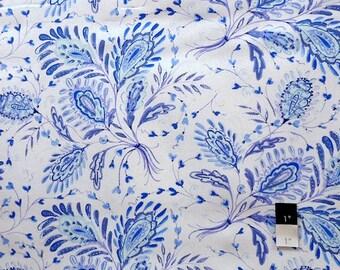 Dena Designs LIDF008 Sunshine Heather Navy LINEN Fabric 1 Yd