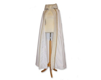 Snow Queen hooded cape, medieval cape, medieval cloak, wedding cape with hood, wedding cloak, frozen cape, cape with fur
