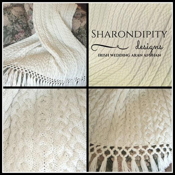 Free Knitting Pattern Wedding Afghan : Irish Wedding Aran Afghan, Knit Afghan, Aran Afghan, Knitting Pattern, Irish ...