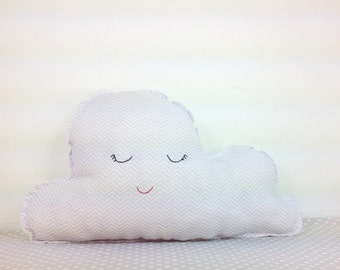 Ready to Ship - Cloud Cushion - Handmade - Embroidered - Pillow - Happy Cloud