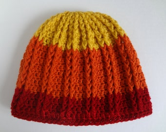 "READY to SHIP Cunning Hat ""Jane"" Inspired S /M Adult or Teen Size Hand Crocheted"
