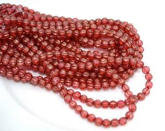 Cardinal Halo 5mm Melon Beads  50