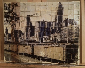 Chicago Oil Painting/Collage