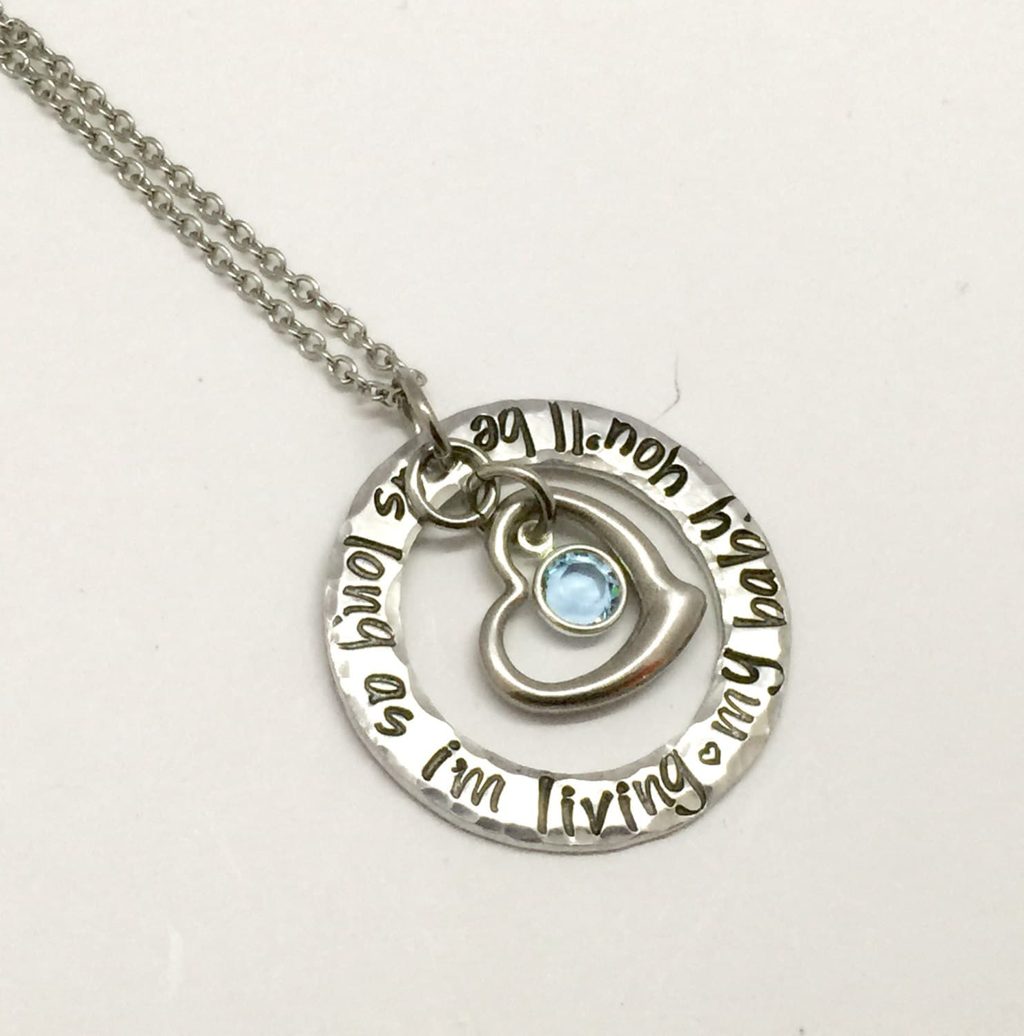 Hand stamped jewelry personalized jewelry necklace as long for How do you make hand stamped jewelry