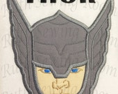 Thor Face with name Applique, Avenger Applique Embroidery Design This is NOT A PATCH