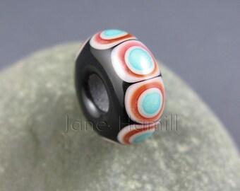 "Lampwork art glass BHB, charm bead, donut ""Vedrana"", FHFteam Y3, GBUK"
