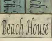 BEACH HOUSE SIGN / Beach House / Beach house decor / hand painted sign / beach cottage chic / rustic beach house / beach cottage chic / sign
